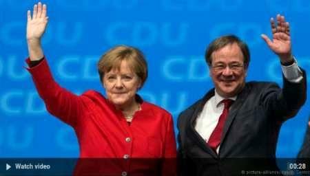 پیروزی حزب مرکل در انتخابات پرجمعیت ترین ایالت آلمان