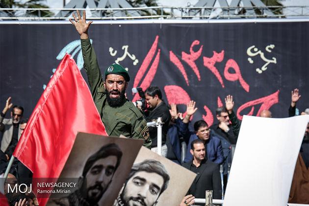 هواپیمای حامل شهید حججی در اصفهان به زمین نشست