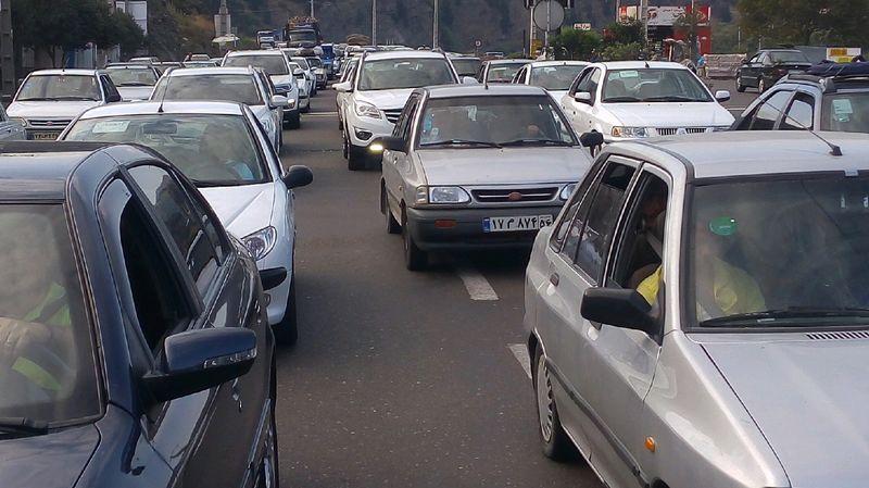 ترافیک سنگین در جاده رشت - قزوین