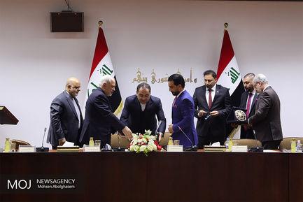 دیدار ظریف با محمد حلبوسی رییس مجلس عراق