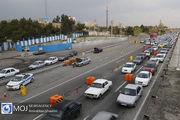 ترافیک نیمه سنگین در ورودی های شهر تهران