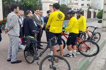 استقبال از دوچرخه سواران مروج حفاظت از دریای کاسپین