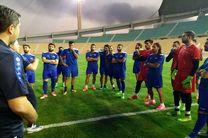 برگزاری تمرین تیم ملی فوتبال سوریه در ورزشگاه تختی تهران