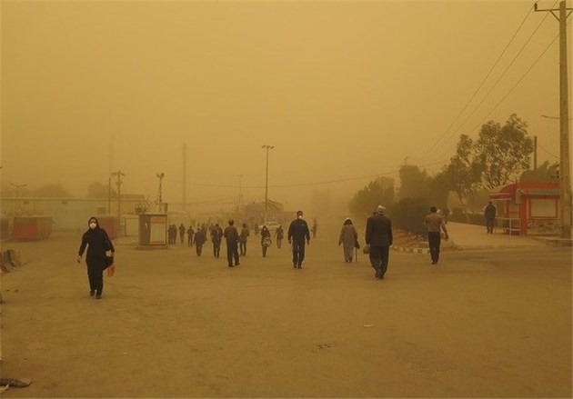ادامه گرد و غبار تا اوسط هفته جاری در خوزستان