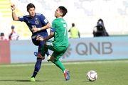 نتیجه بازی ژاپن و ترکمنستان/پیروزی سخت سامورایی ها در نخستین دیدار