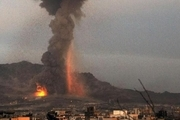 حمله ائتلاف سعودی به پایتخت یمن