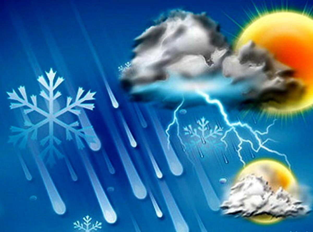 بارش پراکنده برف و باران در برخی از استان های کشور