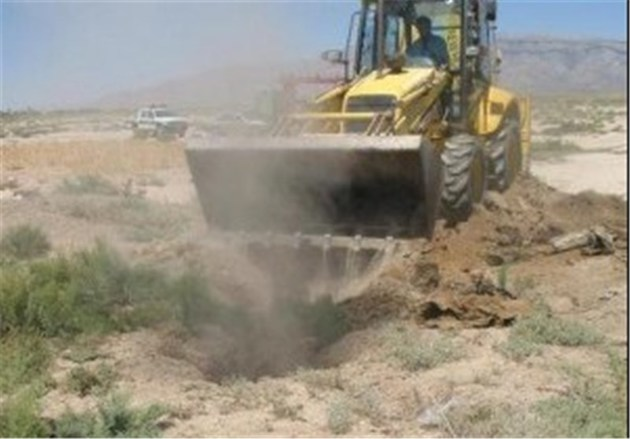 انسداد 25 حلقه چاه غیر مجاز در کاشان