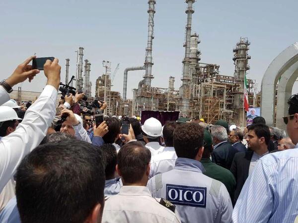 بازدید وزیر نفت از پالایشگاه ستاره خلیج فارس