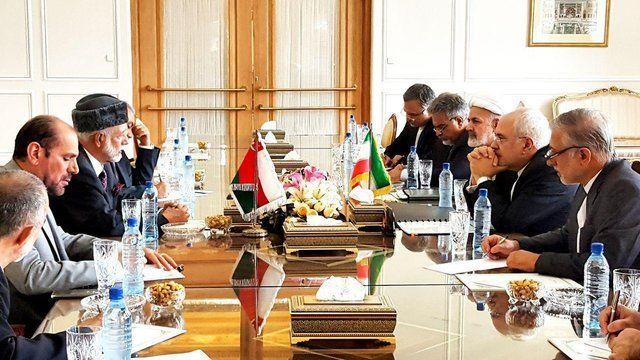 دیدار وزیر امور خارجه عمان با همتای ایرانی خود در تهران
