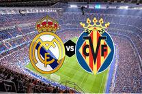 پخش زنده بازی ویارئال و رئال مادرید از شبکه سه سیما