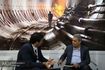 بازدید وزیر راه و شهرسازی ( عباس آخوندی ) از غرفه های ششمین نمایشگاه بین المللی حمل و نقل ریلی، صنایع، تجهیزات و خدمات وابسته