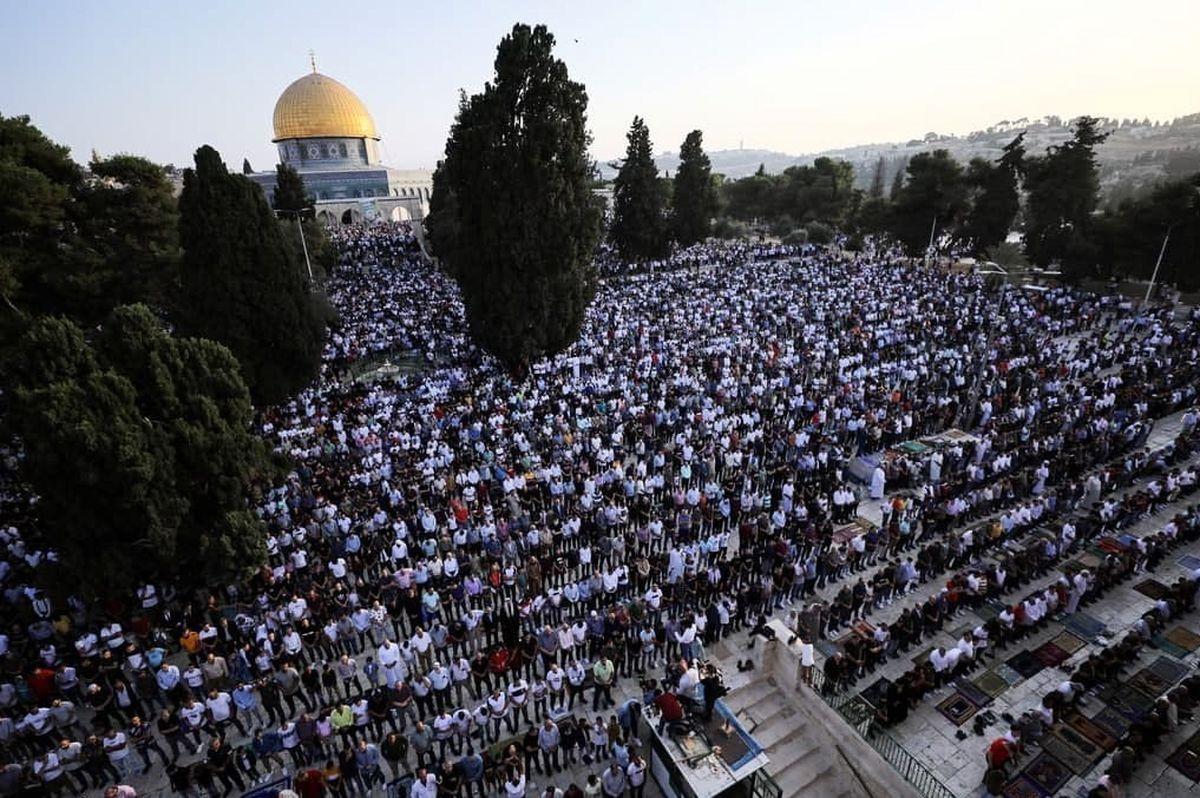 حضور ۱۰۰ هزار نفر در نماز عید قربان در مسجد الاقصی