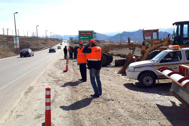 استقرار نیروهای راهداری برای ارائه خدمات به مسافران در اردبیل