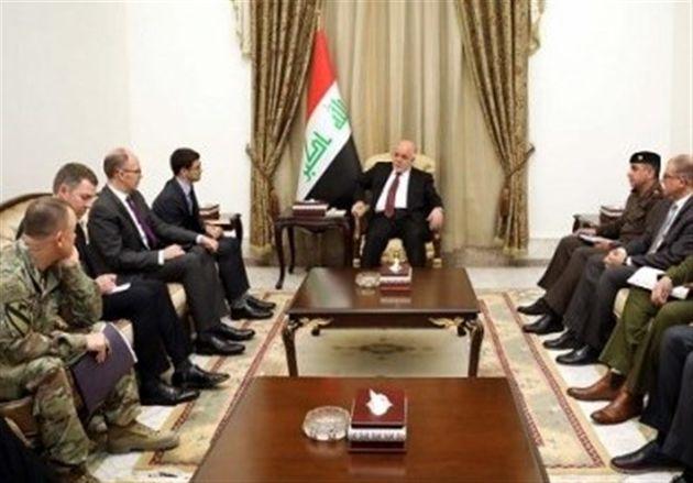 دستیار وزیر دفاع آمریکا با حیدر العبادی دیدار کرد