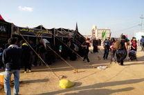 پرچم آستان سید علاءالدین حسین را جهت برافراشته شدن در کربلای معلی به همراه بردند
