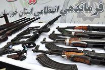 کشف 104 قبضه انواع سلاح غیرمجاز در خوزستان/دستگیری 94 نفر