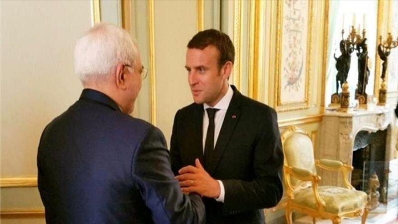 ظریف با امانوئل ماکرون دیدار می کند