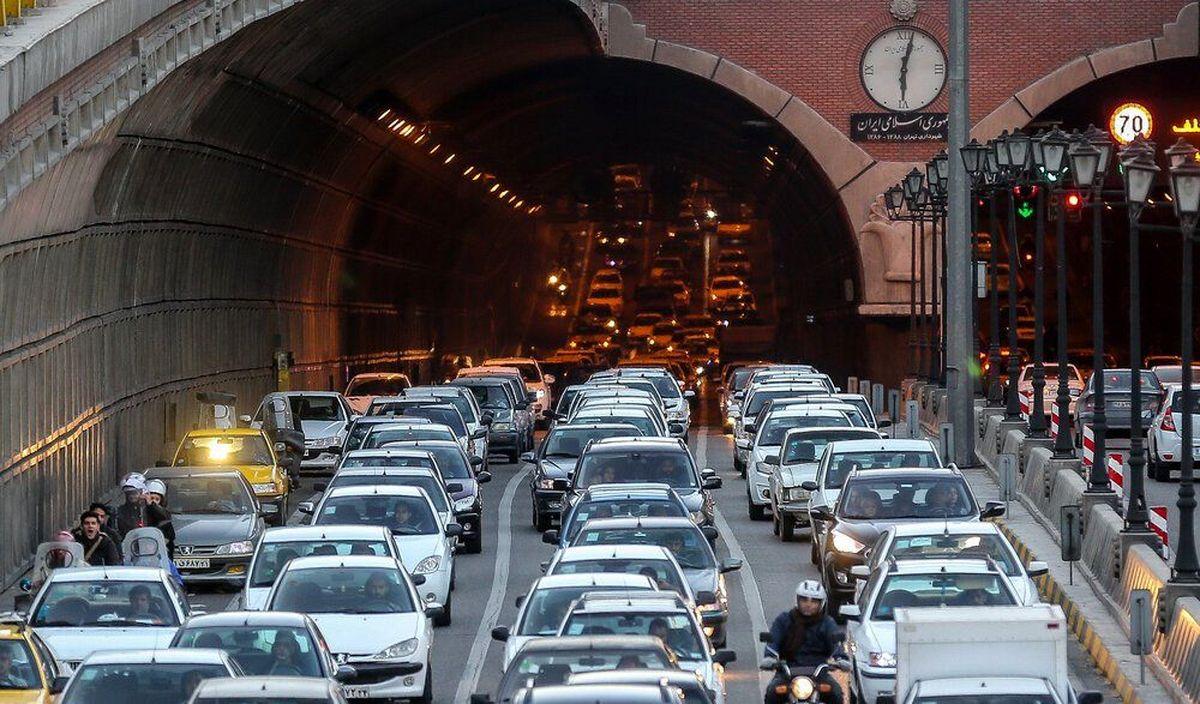 ترافیک سنگین در ۶ معبر بزرگراهی در پایتخت