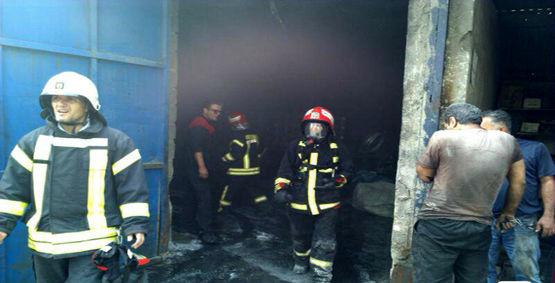 آتش سوزی در لاستیک سازی احمد گوراب رشت