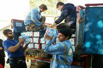 ارسال کمک های اهدائی سازمان منطقه آزاد انزلی به زلزله زدگان غرب کشور