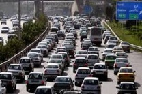 ترافیک سنگین در باند جنوبی آزادراه تهران-کرج