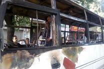 فوت چهار نفر در آتشسوزی مینیبوس در تهران