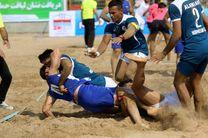 برگزاری مسابقات کبدی ساحلی کارگران کشور در بندرعباس