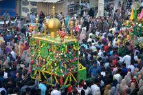 برگزاری مراسم منبرگردانی در شهرستان میناب /همراه با فیلم
