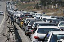 ترافیک سنگین در آزاد راه کرج-تهران