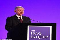 چیلکات: تونی بلر درباره جنگ عراق صادق نبود