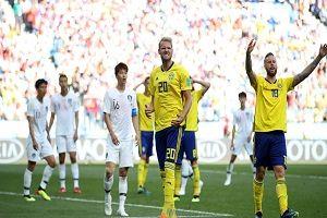نتیجه بازی سوئد و کره جنوبی در جام جهانی/ سوئد از سد کره جنوبی گذشت