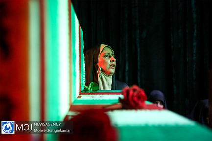 وداع با پیکر شهید مدافع حرم مهدی ثامنی راد