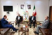دیدار کیومرث هاشمی با سفیر ایران در ترکمنستان