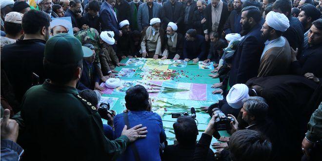 ۵ شهید مدافع حرم در قم تشییع شد