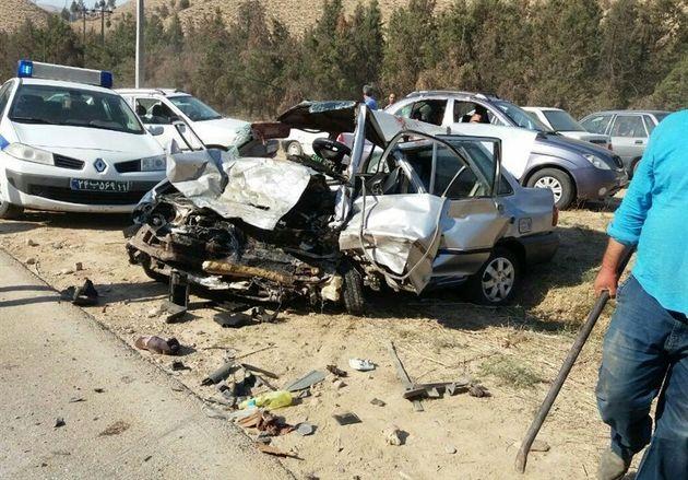 تصادف در کلاله یک کشته و ۹ مجروح در پی داشت