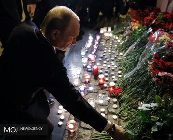 یادبود برای قربانیان انفجار سن پترزبورگ روسیه