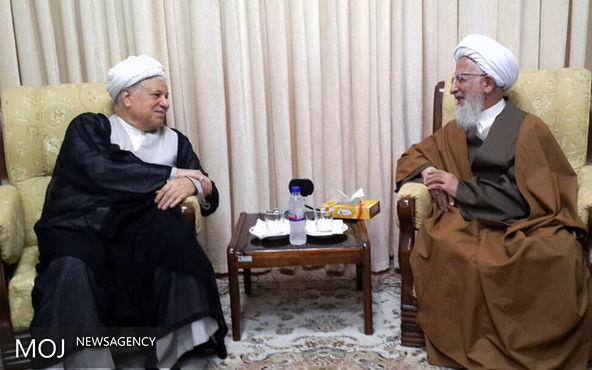 آیت الله جوادی آملی با رئیس مجمع تشخیص مصلحت دیدار کرد