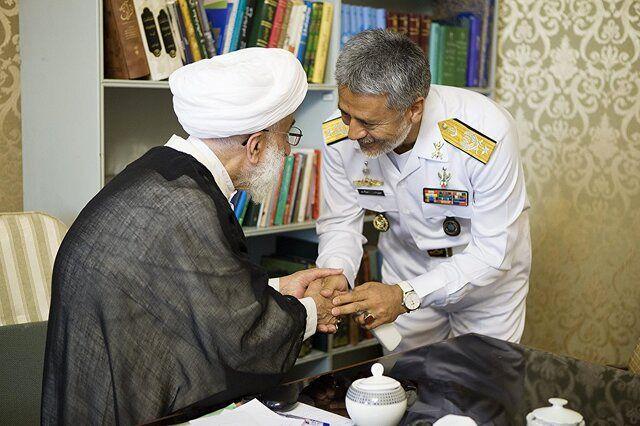 دریادار سیاری با آیت الله جنتی در شورای نگهبان دیدار کرد