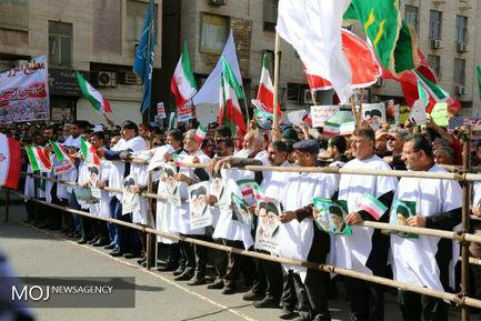 راهپیمایی مردمی در محکومیت حوادث روزهای اخیر در اهواز
