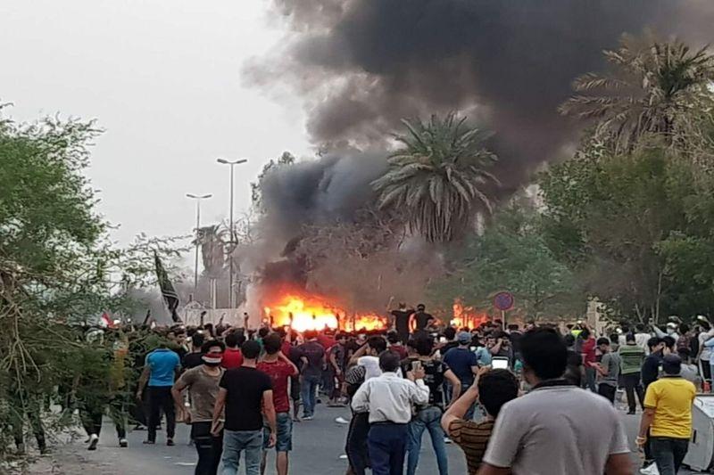 اعتراضات روز گذشته در بصره 47 کشته در زخمی بر جای گذاشت