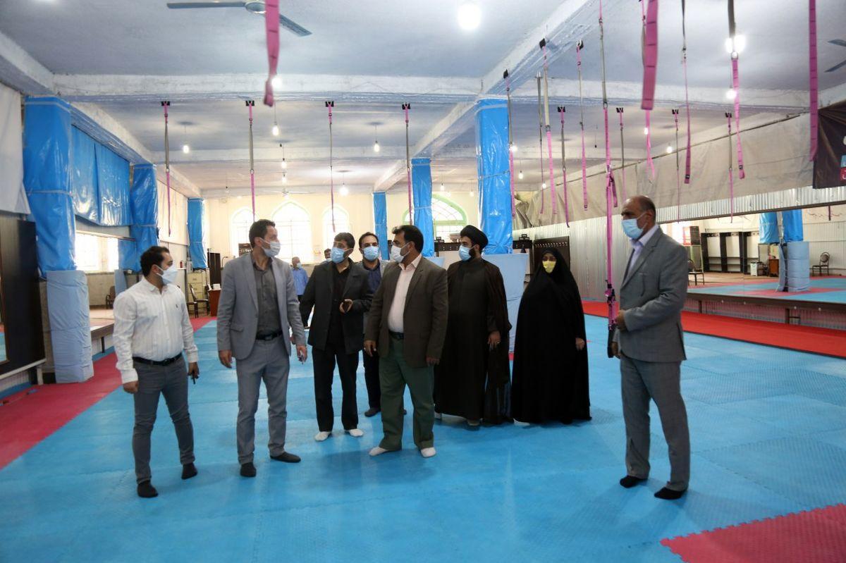 بازدید اعضای شورای شهر از پروژه های ورزشی سازمان فرهنگی، اجتماعی ورزشی شهرداری یزد