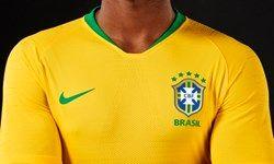 پیراهن اول برزیل در جام جهانی روسیه رونمایی شد