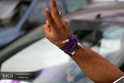 شادی مردم پس از انتخابات کرمانشاه