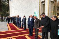 حضور ظریف در مراسم استقبال از نخست وزیر ارمنستان
