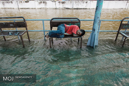 جاری شدن سیل در تایلند