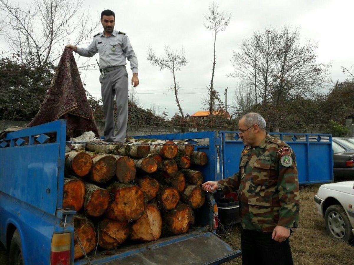 قاچاق چوب در غرب مازندران با همکاری نیروی انتظامی کمتر احساس می شود
