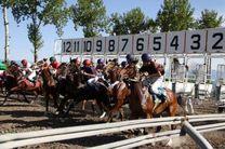 مسابقات اسبدوانی کورس بهاره در گنبدکاووس برگزار شد