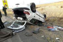 1 کشته و یک مصدوم  در واژگونی سواری پژو 206 در محور کاشان – اصفهان