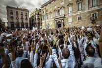 خیابانهای کاتالونیا زیر پای مخالفان استقلال